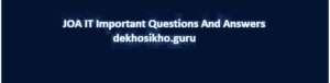 JOA IT Questions Paper Set-